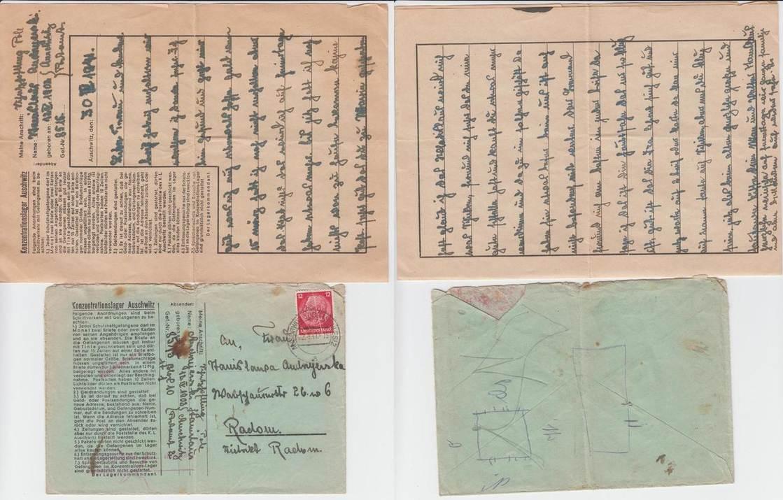 Brief Mit Briefumschlag Eines Gefangenen 1941 Deutschland