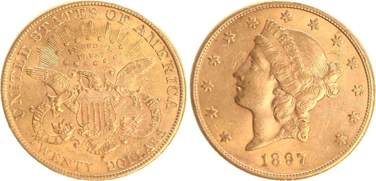 20 Dollar Gold 1897 S Usa Usa 20 Dollar Gold Double Eagle 1897 S Ss