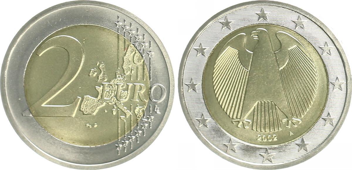 2 Euro 2002 A Bundesrepublik Deutschland Deutschland 2 Euro