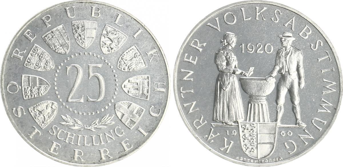 25 Schilling 1960 österreich österreich 25 Schilling 1960 Kärntner
