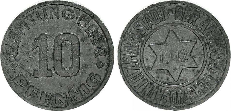10 Pfennig Magnesium (mit Echtheitszertifikat) 1942 Deutschland ...