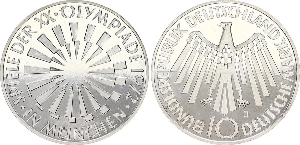 10dm Olympiade 1972 Fehlprägung 1972 J Deutschland Brd 10dm