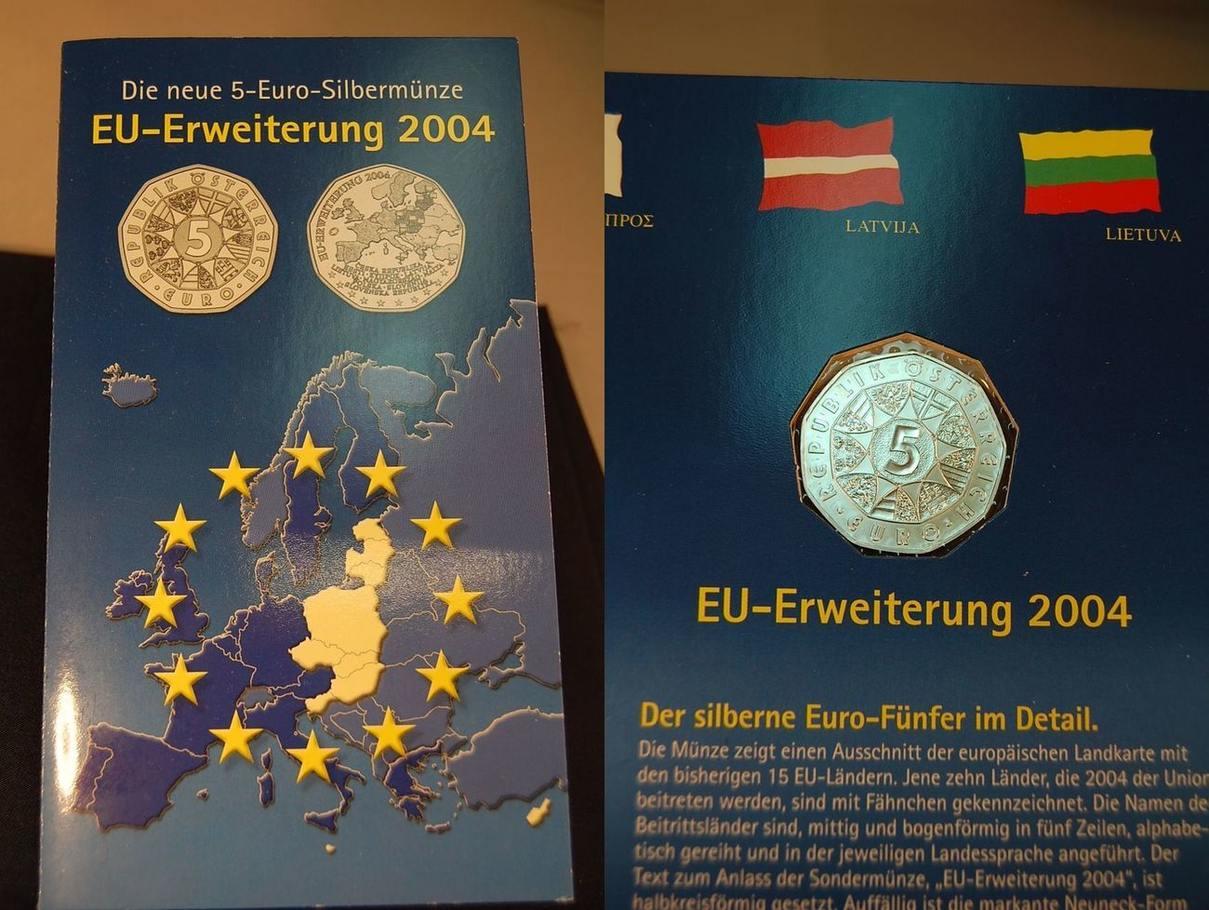 5 Euro Gedenkmünze 2004 2002 österreich 5 Euro Gedenkmünze 2004