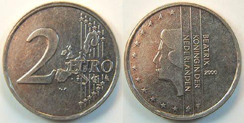 2 Euro 2000 Niederlande 2 Euro Niederlande Probeprägung In