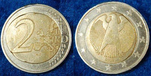 Fehlprägung 2 Euro 2002 D Deutschland Fehlprägung 2 Euro 2002 D