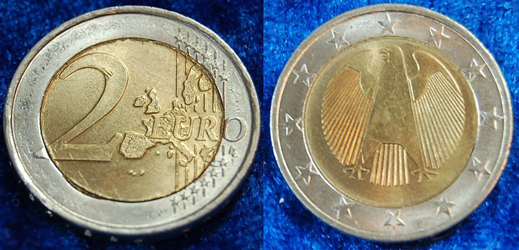 2 Euro Probe Quotdrehende Sternequot 2002 Deutschland 2 Euro