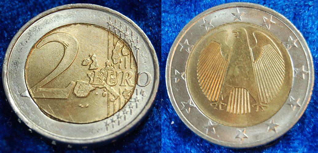 2 Euro Probe Quotdrehende Sternequot 2002 Deutschland 2 Euro