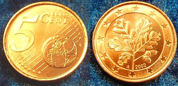 5 Cent Probe Quotdrehende Sternequot 2002 A Deutschland 5 Cent