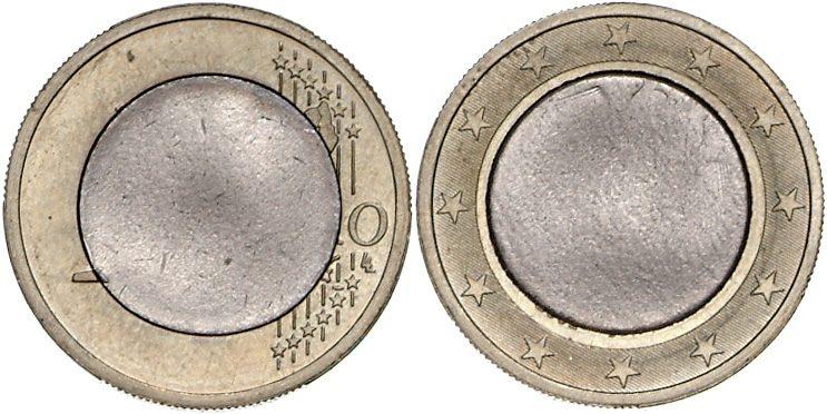 Fehlprägung 1 Euro 2002 Deutschland Fehlprägung 1 Euro 2002 Mit