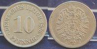 Deutschland / Kaiserreich 10 Pfennig Kaiserreich sehr seltene Probe zu  J.4  10 Pfennig 1876 B, Riffelrand, ss-vz