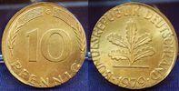 Deutschland 10 Pfennig Fehlprägung auf untergewichti BRD 10 Pfennig 1979 G Fehlprägung: auf untergewichtiger 5 Pf Ronde,  f.st
