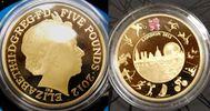 Grossbritannien 5 Pound Silber vergoldet Grossbritannien, 5 Pound, vergoldet Royal mint, 2012 PP (proof), in Schatulle