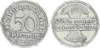 Deutschland / Weimar / Inflationszeit 50 Pfennig Probe Kupfer-Alu-plattiert Kaiserreich Probe 50 Pfennig Ähnl. Schaaf 301G4 Kupfer-Alu-plattiert, ss-vz