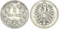 Deutschland / Kaiserreich 1 Mark 1 Mark kleiner Adler J.9  1877 B  fast ss, seltener Jahrgang