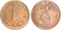 Deutschland / 3.Reich 1 Pfennig-10% dezentriert 1 Pfennig 1938A J.361 ss-vz 10% dezentriert