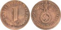 Deutschland / 3.Reich 1 Pfennig-10% dezentriert 1 Pfennig 1937A J.361 ss-vz  10% dezentriert   Fehlprägung