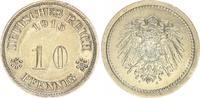 Deutschland / Kaiserreich 10 Pfennig Kaiserreich sehr seltene Probe zu J.13 und J.298  10 Pfennig 1915 A  vz