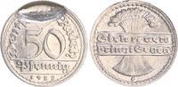 Deutschland / Weimar 50 Pfennig Weimar 50Pf.1922 G  J.301  FEHLPRÄGUNG Rohling mitgeprägt