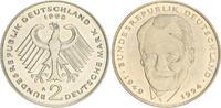 Deutschland 2 DM 2 DM J.459 1998A, Fehlprägung, ohne Randschrift, zu schwer, 7,98g