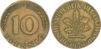 Deutschland 10 Pfennig Fehlprägung auf untergewichti BRD 10 Pfennig 1950 D Fehlprägung: auf untergewichtiger Ronde 3,37 g ss-vz