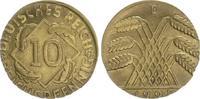 Deutschland / Weimar 10 Pfennig auf 5 Pf. Schrötling 10 Pfennig J.309 1925D Fehlprägung: auf 5 Pf.-Schrötling geprägt, 2,5g vz
