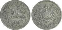 Deutschland / Kaiserreich 50 Pfennig Kaiserreich 50Pf. J.15  1896 A  ss