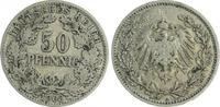 Deutschland / Kaiserreich 50 Pfennig Kaiserreich 50Pf. J.15  1903 A  ss