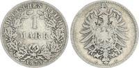 Deutschland / Kaiserreich 1 Mark 1 Mark kleiner Adler J.9  1873 C  s-ss, seltener Jahrgang