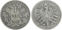 Deutschland / Kaiserreich 1 Mark 1 Mark kleiner Adler J.9  1877 B  s-ss,