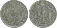 Deutschland / WEIMAR-3.Reich 50 Pfennig 3.Reich/WEIMAR 50 Pfennig ss-vz 1933 G selten