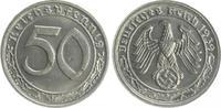 Deutschland / Drittes Reich 50 Pfennig Drittes Reich 50 Pfennig Cu-Ni 1939 G  fast prägefrisch