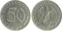 Deutschland / Drittes Reich 50 Pfennig Drittes Reich 50 Pfennig Cu-Ni 1938 E  fast Stempelglanz