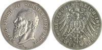 Deutschland / Schaumburg-Lippe 2 Mark Schaumburg-Lippe Georg 2 Mark 1898 A, ss,Henkelspur