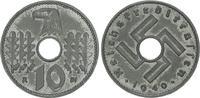 Deutschland / Reichskreditkassen 10 Pfennig Reichskreditkassen 10 Pfennig J.619 1940B   sehr seltenes Münzzeichen !!!