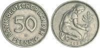 Deutschland 50 Pfennig 50 Pfennig Bank Deutscher Länder 1950G irrtümlich geprägt ss+