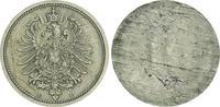 Deutschland / Kaiserreich 10 Pfennig Fehlprägung Kaiserreich 10 Pf. J.4  einseitige Prägung der Adlerseite