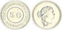 Kaiserreich / Weimar - Probeprägung 50 Pf. Probe 50 Pf. Probe der Westfälischen Nickelwerke - Rondenlieferant deutsches Reich