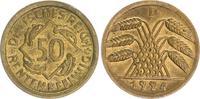 Deutschland 50 Rentenpfennig 50 Pf. J.310 1924D Kursmünze ,prägefrisch