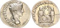 Antike / Römische Kaiserzeit / Augustus Denar Augustus Denar 2-4 v.Chr., Lugdunum, RS C. und L. Caesar frontal mit Speer und S