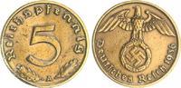 Deutschland / Drittes Reich 5 Pfennig Drittes Reich 5 Pfennig 1936 A seltenes Jahr  ss,Rf.