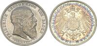 Deutschland / Kaiserreich / Baden  Baden 2 Mark 1907 fast st aus Polierter Platte (Proof), Patina Pa