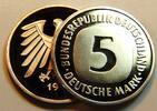Deutschland / Bundesrepublik 5 Mark 5 DM Kursmünze 1997 F TOP-Erhaltung - Seltenes Jahr  Polierte Platte (PP, Proof)