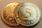 Deutschland / Bundesrepublik 5 Mark 5 DM Kursmünze 1997 F  TOP-Erhaltung !  Seltenes Jahr.  prägefrisch-stempelglanz