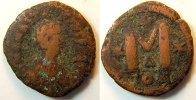 Antike / Byzanz Anastasius I Follis Byzanz Aastasius I. 491-518 n.Chr   Bronze Follis J. 512/517 s