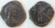 Antike / Byzanz Anastasius I Halbfollis Byzanz Anastasius I. 491-518 n.Chr   Bronze Halbfollis J. 507/512 s-ss
