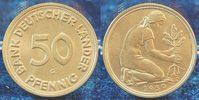 Deutschland 50 Pfennig 50 Pfennig Bank Deutscher Länder 1950G irrtümlich geprägt  TOP-Erhaltung !!!
