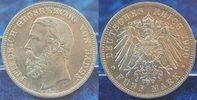 Deutschland / Kaiserreich / Baden 5 Mark Baden 5 Mark 1900 G Silbermünze Friedrich seltene Erhaltung: fast prfr.