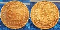 Kaiserreich / 25 Pf. Probeprägung 25 Pfennig Probe 25Pf.(2) J.18 in anderer Gestaltung der Vorder- und RS., Bronze PP
