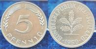 Deutschland 5 Pfennig Probe 5 Pfennig Bundesrepublik 1950 J Materialprobe in Aluminium Gewicht wie 1Pf.DDR
