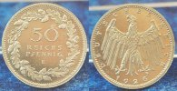 Deutschland / WEIMAR / PROBEPRÄGUNG 50 Pfennig WEIMAR 50 Pfennig Gestaltungsprobe von Hörnlein Kupfer-Nickel, vz-st